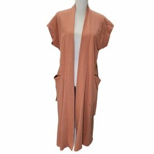 Free People Beach Kimono Belted Cover Up Pockets